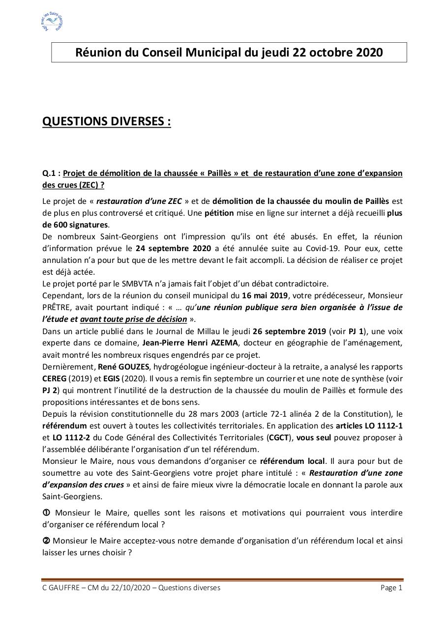 Aperçu du document QUESTIONS DIVERSES_REUNION CM_22OCTOBRE2020_CG.pdf - page 1/2