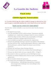 la gazette des sudistes flash covid agents vulnerables 22 ocotob