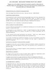reglement jeu concours hotel rennes ibis budget route lorient  h