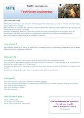 offre technicien coulisseaux 20