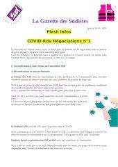 la gazette des sudistes flash covid rdv negociation 28 ocotobre