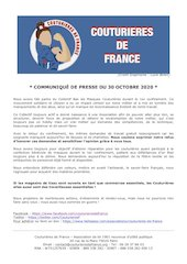communique de presse cdf 30102020