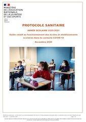 protocole sanitaire   ann e scolaire renforce