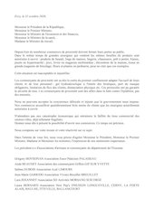 courrier des president e s dassociations de commercants de lesso