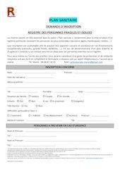 courrier inscription plan sanitaire 2020