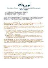 coronavirus covid 19 les mesures de soutien aux associations   w