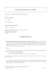 declaration de parents deleve04112020   des 11 ans