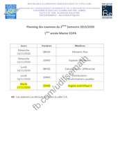 planning des examens 1edpa s2 2019 2020