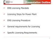 Presentation on Licensing  Procedure for Power Plants_Oct 2020.pdf - page 2/10