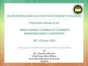 rea  on solution to energy challengesfrench zambia chamber of co