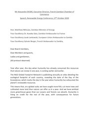 mr degre speech  re conference 27 oct 2020