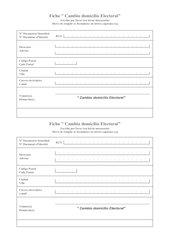 solicitud de cambio de domicilio elctoral