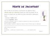 vente de jacinthes