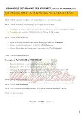 programme des journes ms20vp