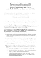 lettre ouverte aux directeurs des ecoles de chatillon sur chalar 1