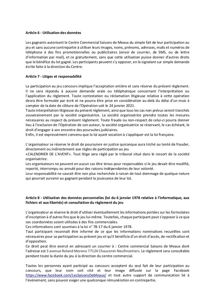 Aperçu du document Règlement Digital _ calendrier de l'avent instagram SDM.pdf - page 2/3