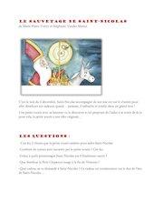 le sauvetage de saint nicolas