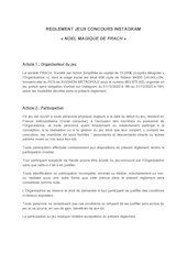 reglement noel magique1