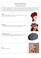 chapeaux  les differents types