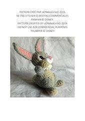 patron crochet panpan pattern crochet thumper by oonekogirloo