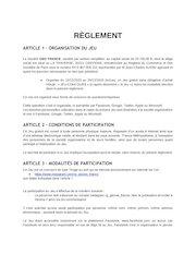 reglement jeu concours rg gloves