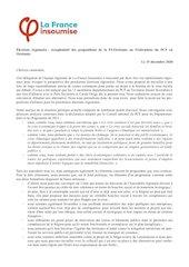 courrier de la france insoumise  adresse aux federations du pcf