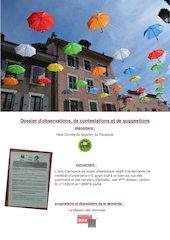 contestation du comite de quartier du parapluie concernant la de