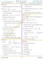 serie des suites numeriques