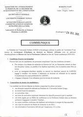 communique recrutement doctorants en histoire africaine