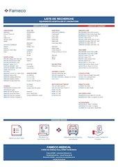 fameco medical liste de recherche fr