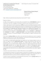 lettre madame roselyne bachelot 12012021