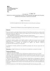 circulaire fp covid auto isolement agents publics 12012021
