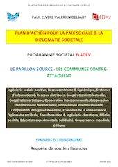plan daction pour la paix sociale et la  diplomatie societale