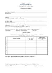 bulletin dinscription 2021