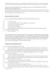 charte de confidentialite