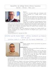 newsletter janvier fevrier mars 2021