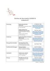 centres de vaccination covid 19 ardeche
