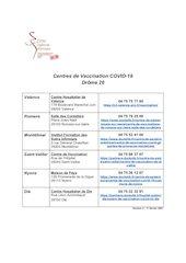 centres de vaccination covid 19 drome