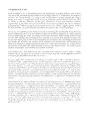 texte et traduction paradoxes of love