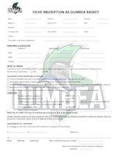 asd   fiche inscription 2021