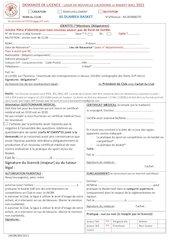 demande de licence ligue 2021