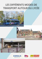 les differents modes de transport autour du lycee