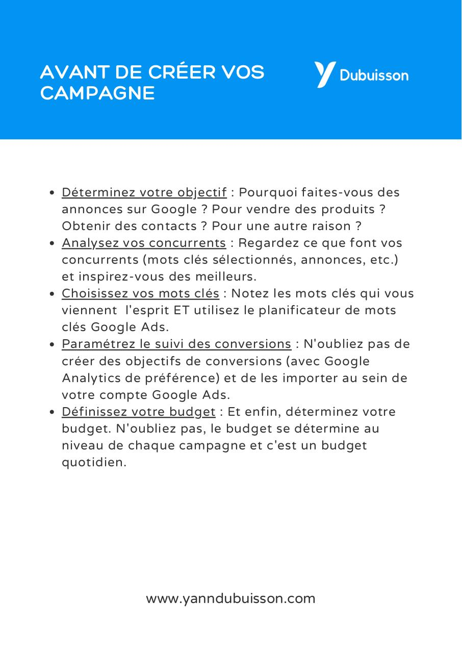 Aperçu du document Aide-memoire check-list Google Ads complet.pdf - page 2/4