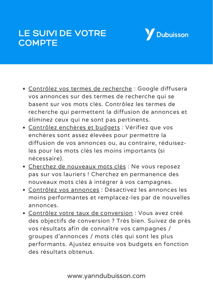 Aperçu du document Aide-memoire check-list Google Ads complet.pdf - page 4/4