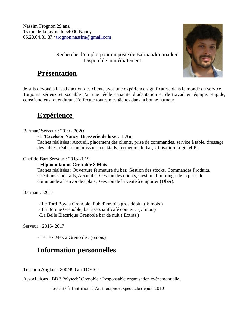 Aperçu du document cv limonadier nassim trognon.pdf - page 1/1