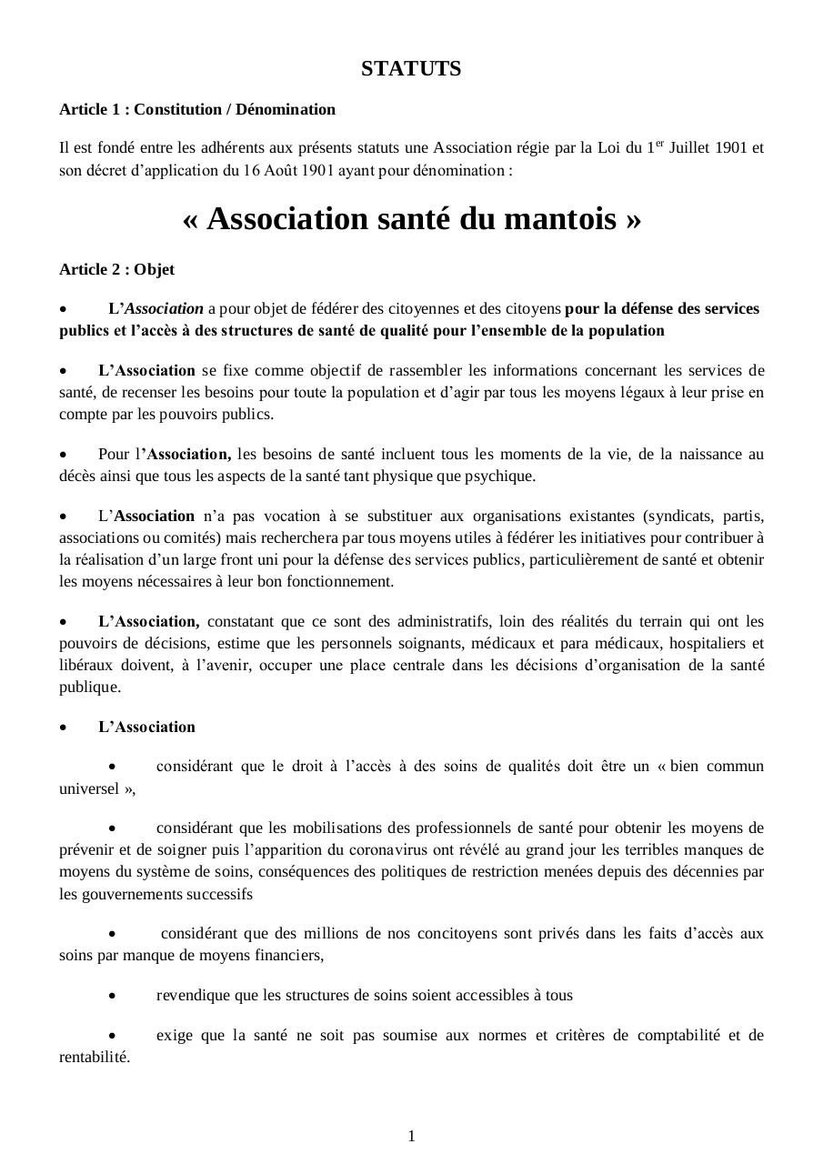 Aperçu du document Statuts de l-association 04-07-2020.pdf - page 1/4
