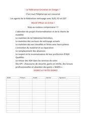 petition federation entretien 9 mars 2021 greve