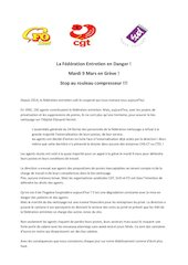 tract intersyndical sud fo cgt greve federation entretien 9 mars