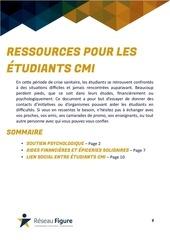 ressources crise sanitaire etudiants cmi 1