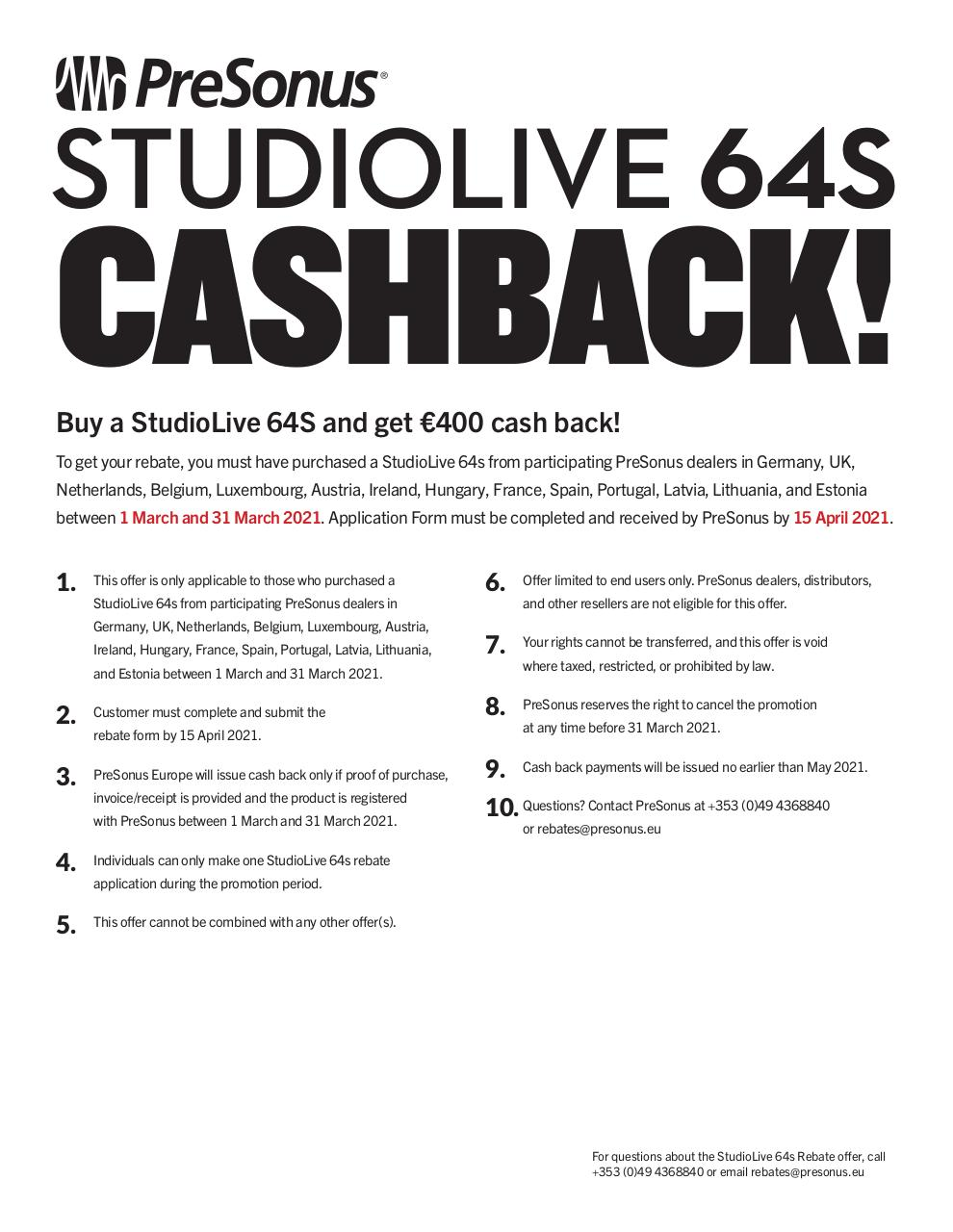 Aperçu du document studiolive64s-rebate-form.pdf - page 1/2